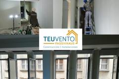 Últimos retoques de pintura en este reforma completa del centro de A Coruña. TEUVENTO.COM. Subvenciones 2019