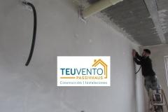 Encintado de perforaciones al exterior en esta #PASSIVHAUS.Subvenciones 50% empresas Energías Renovables 2019 para usos térmicos