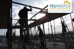 Encofrado del último forjado de esta vivienda #PASSIVHAUS en Oleiros. TEUVENTO.COM. Eficiencia Energética en Construcción e Instalaciones