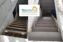 Escaleras-de-acceso-a-vivienda-desde-sótano-ya-hormigonadas-y-pulidas-en-esta-PASSIVHAUS-Coruña-Vigo