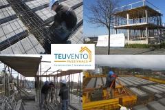 Estructura levantada en esta vivienda pasiva de Oleiros. TEUVENTO.COM. Subvenciones 2019