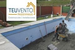 Subiendo el nivel de una piscina en Galicia