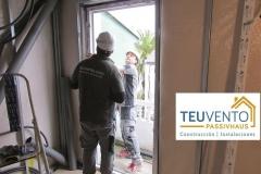 Instalando ventanas en una reforma Passivhaus