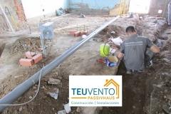 Instalando el saneamiento la una reforma completa de una vivienda con 12.000€ de subvención. TEUVENTO.COM. Eficiencia Energética en Construcción e Instalaciones