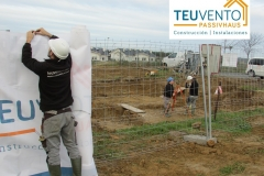 Nueva obra de vivienda Pasiva en oleiros. TEUVENTO.COM. Eficiencia Energética en Construcción e Instalaciones con todo el personal en plantilla