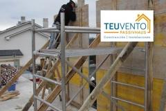 Preparándonos para hormigonar los pilares en esta última planta de este #PASSIVHAUS. TEUVENTO.COM. Eficiencia Energética en Construcción e Instalaciones