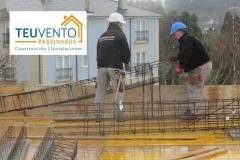 Preparando el hierro para las vigas de uno d elos forjados de esta vivienda #PASSIVHAUS. TEUVENTO.COM Eficiencia Energética en Construcción e Instalaciones