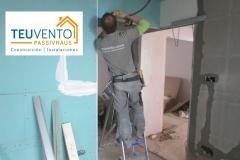 Recomponiendo con pladur lo demolido en esta rehabilitación completa. TEUVENTO.COM. Subvenciones 2019