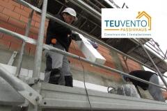 Recortando Sate con termocuchillo para adaptar EPS al encaje en esta #PASSIVHAUS. Subvenciones 50% empresas Energías Renovables 2019 para usos térmicos