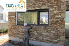 Remate artesanal antes de colocar los alféizares en este cambio de ventana. Última semana para solicitud de ayudas Energías renovables 2019