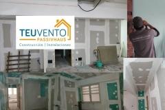 Terminando ya esta obra en el centro de Coruña. TEUVENTO.COM. Todos los gremios en plantilla