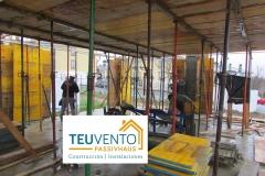 Ya con el encofrado del segundo forjado de esta #PASSIVHAUS. TEUVENTO.COM Eficiencia Energética en Construcción e Instalaciones