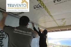 Instalación de pladur en Passivhaus