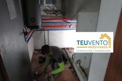 Adaptándonos a espacios pequeños en esta instalación de bomba de calor aerotérmica. TEUVENTO.COM. Eficiencia Energética con Construcción e Instalaciones