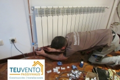 Con bomba de calor también pueden ir radiadores convencionales si se dimensionan correctamente. TEUVENTO.COM Eficiencia Energética en Construcción e Instalaciones