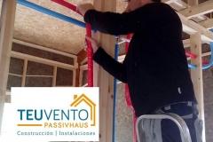 Instalación de Calefaccion en una vivienda de madera