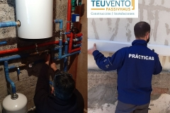 Instalación-de-aerotermia-a-la-par-que-formando-a-un-alumno-en-prácticas-Coruña-Vigo