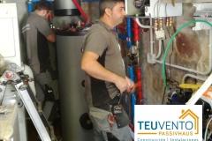 Instalación de bomba de calor en sustitución de caldera de gasoil. Subvención del 30%. TEUVENTO.COM. Eficiencia Energética en Construcción e Instalaciones