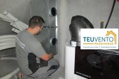 Instalación de un recuperador de calor en una vivienda pasiva. TEUVENTO.COM. Eficiencia energética en Construcción e Instalaciones
