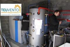 Instalación de una caldera de pellets subvencionada con un 50% al tiempo que se mantiene la de leña