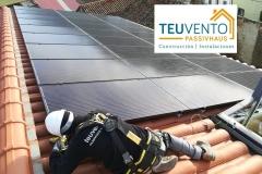 Instalación solar fotovoltaica en una PASSIVHAUS PREMIUM 100% autosuficiente en Toledo. TEUVENTO.COM. Eficiencia Energética en Construcción e Instalaciones