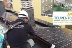Instalación solar fotovoltaica para una vivienda particular subvencionada al 50%. TEUVENTO.COM. Eficiencia Energética en Construcción e Instalaciones