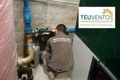 Instalacion hidráulica de caldera de biomasa subvencionada al 50% para una empresa. TEUVENTO.COM. Eficiencia Energética en Construcción e Instalaciones