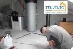 Instalando acumulador aerotérmico y recuperador de calor en una vivienda que seráa certificada PASSIVHAUS. TEUVENTO.COM Eficiencia Energética en Construcción e Instalaciones