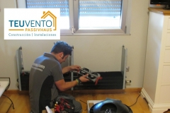 Instalando radiadores de alta eficiencia en una instalación con Bomba de Calor. TEUVENTO.COM. Eficiencia Energética en Construcción e Instalaciones