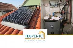 Instalando una solar térmica con un colector de tubos de vacío sobre cubierta de teja SIN perforarla. TEUVENTO.COM. Eficiencia energética en Construcción e Instalaciones