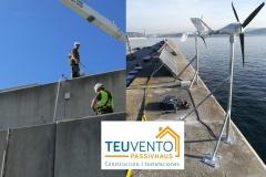 Mejorando una instalación de #autoconsumo aislada en un puerto. TEUVENTO.COM. Eficiencia Energética en Construcción e Instalaciones