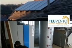 Muy buena combinación. Biomasa y Solar en el rural de Lugo. TEUVENTO.COM. 50% subvención en solar y 50% en caldera de pellets