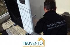 Nueva instalación de Bomba de Calor aerotérmica en sustitución de gasoil 40% Subvención TEUVENTO.COM. Eficiencia Energética en Construcción e Instalaciones