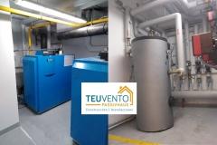 Nueva vida al corazón de calefacción de un gran edificio de A Coruña con equipos de condensación. TEUVENTO.COM. Eficiencia energética en Construcción e Instalaciones