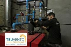 Nuevos circuitos hidráulicos para acople de caldera de pellets a la actual caldera de gasoil. TEUVENTO.COM. Subvención 50% biomasa