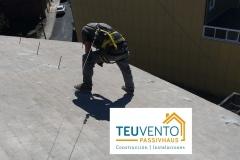Preparando cubierta para una instalación fotovoltaica particular para #autoconsumo con 50% Subvención TEUVENTO.COM Eficiencia Energética en Construcción e Instalaciones