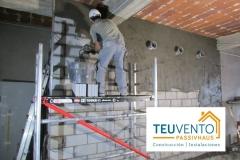 Recebando un silo de obra de Pellets. 50% Subvención. TEUVENTO.COM. Eficiencia Energética en Construcción e Instalaciones