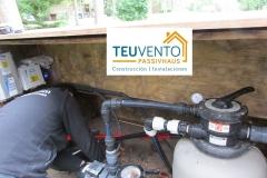 Revisando un bombeo solar con #FOTOVOLTAICA en un estanque privado. Subvenciones fotovoltaica empresas 45% en TEUVENTO