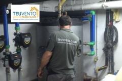 Revisando una instalación de una sala de calderas antes de calorifugar