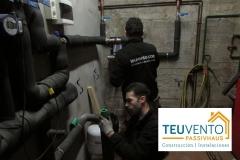 Sustituyendo un depósito por un intercambiador de placas en un hotel. TEUVENTO.COM. Eficiencia Energética en Construccion e Instalaciones