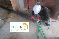Termosoldadura para conexión exterior de una bomba de calor. TEUVENTO.COM. Eficiencia energética en Construcción e Instalaciones