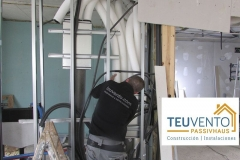 Ventilación mecánica con recuperador de calor en una Passivhaus